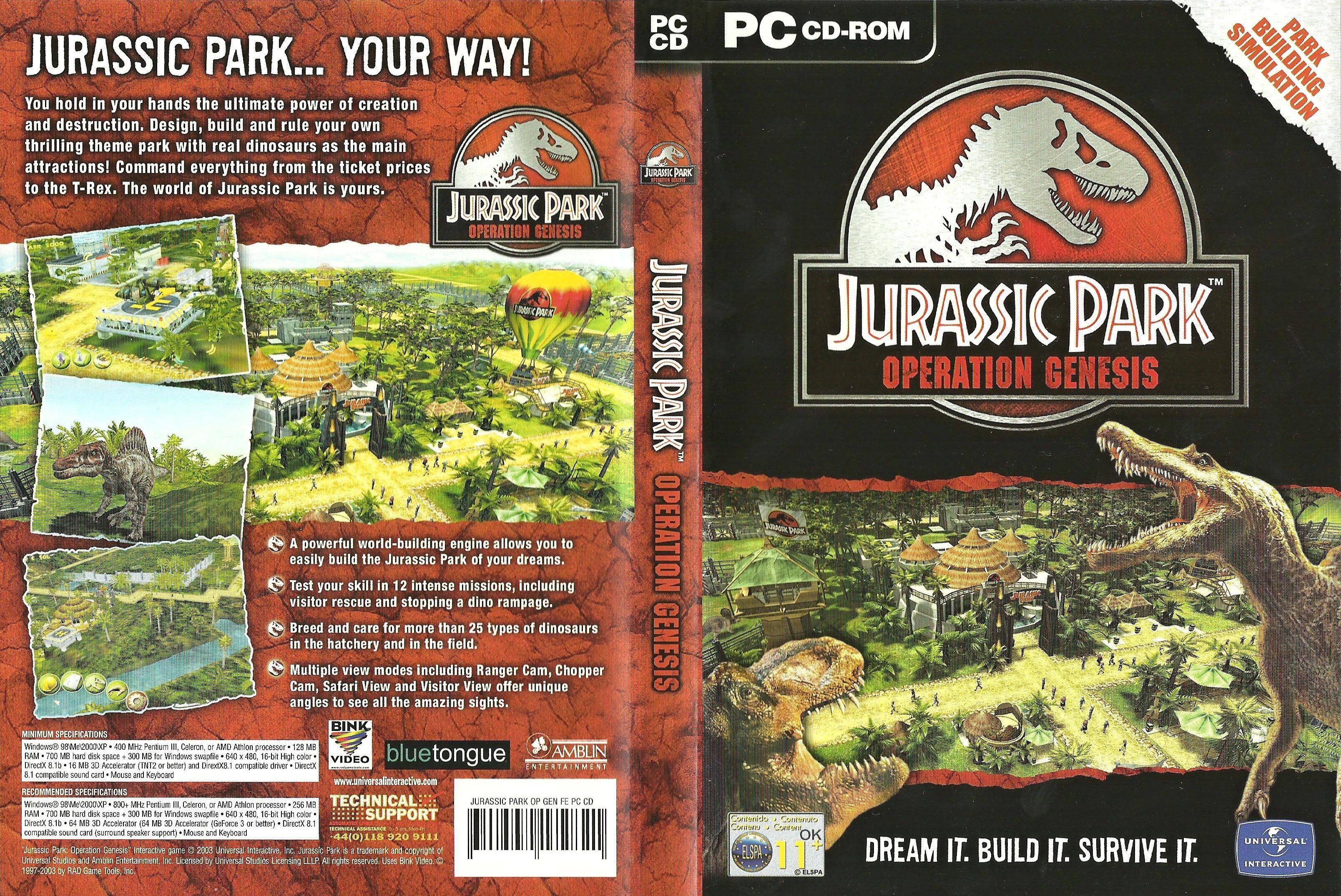 jurassicparkoperationgenesis Jurassic park, Jurassic