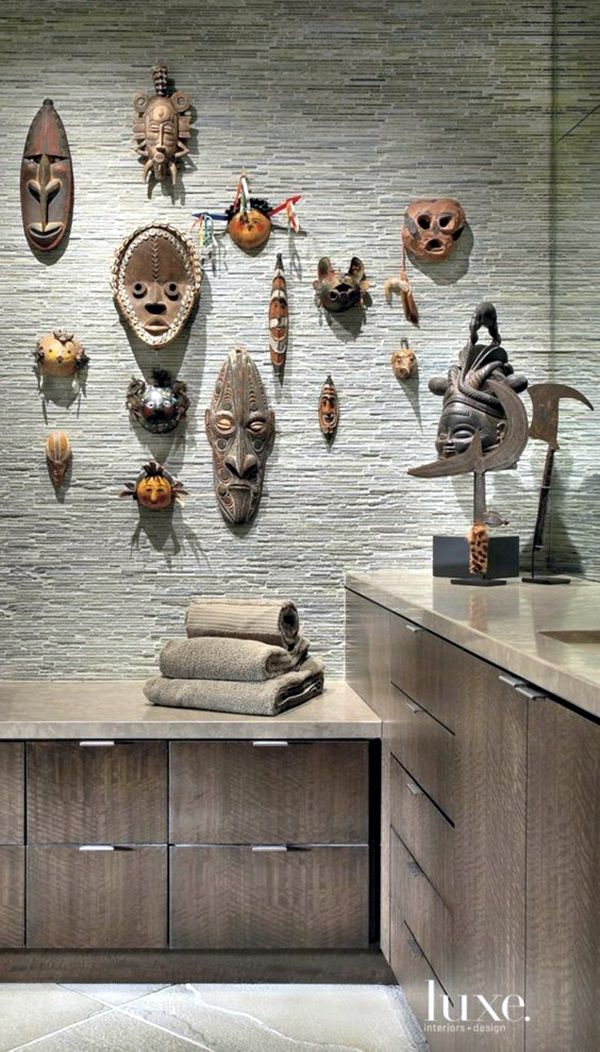 African Masks Wall Decoration Ideas Contemporary Decor Home