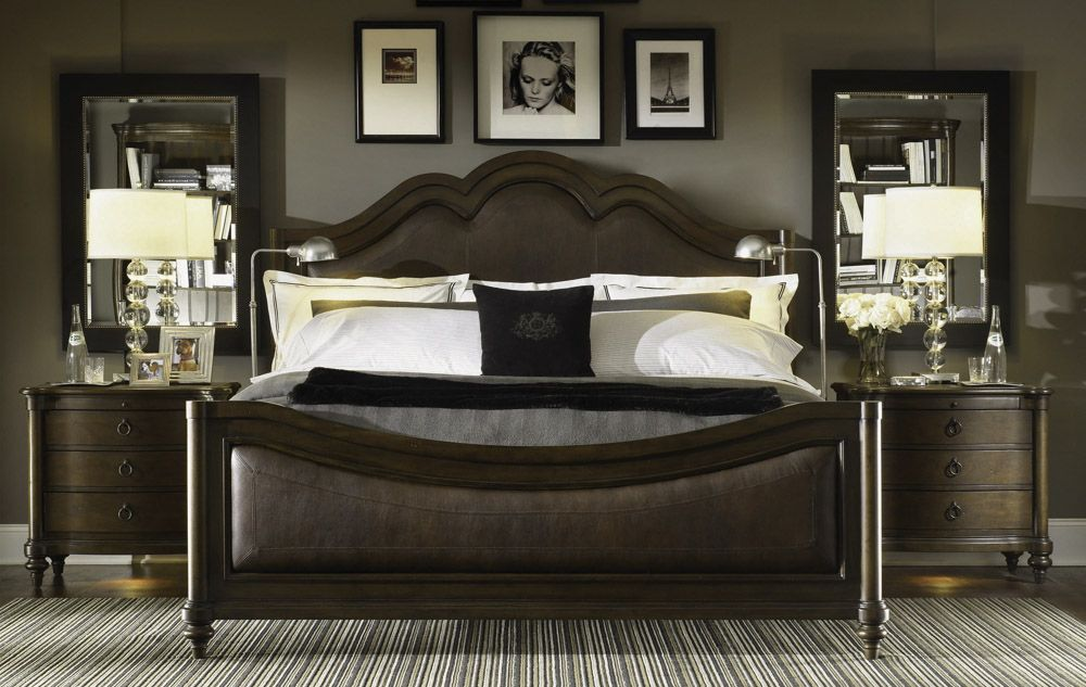 Leather Sleigh Bed King Dream Bedroom Pinterest Bedrooms Master Bedroom And House