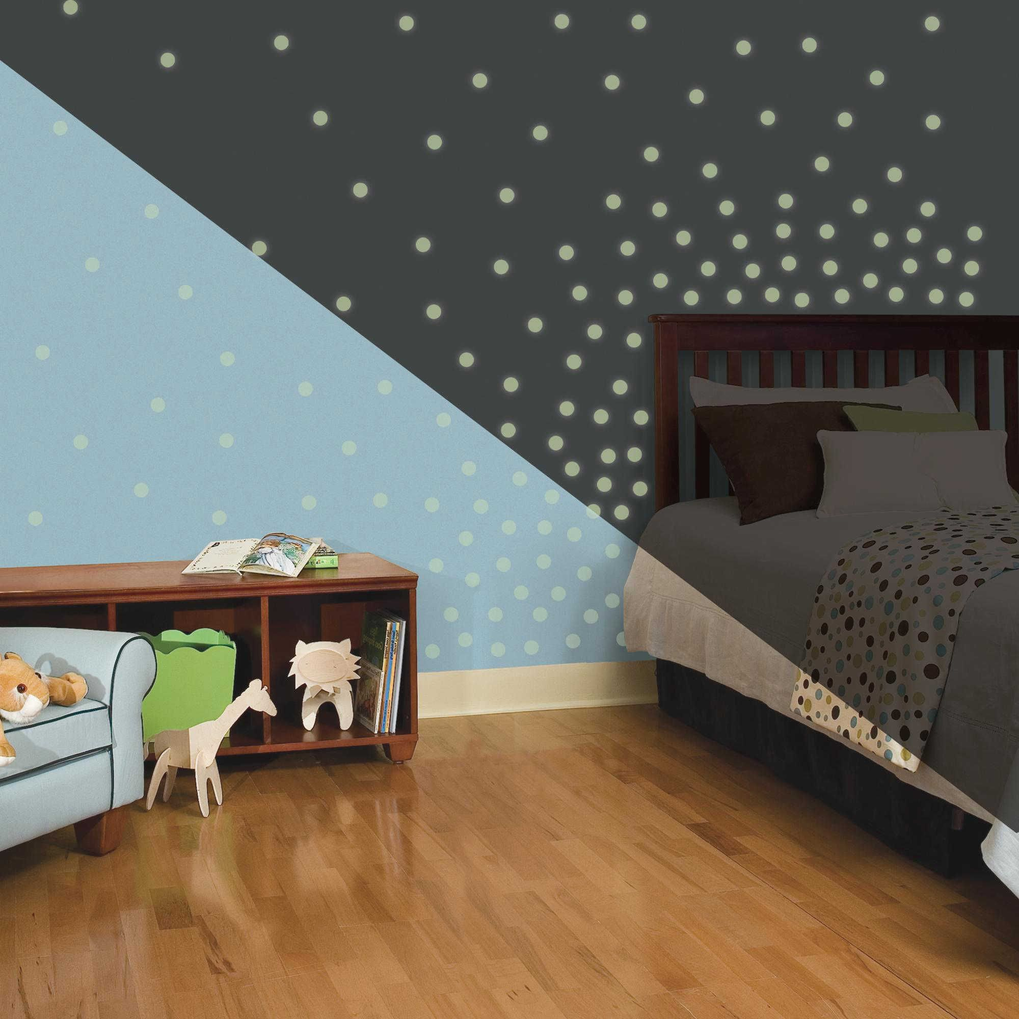 RoomMates Glow in the Dark Dots Peel and Stick Wall Decals & RoomMates Glow in the Dark Dots Peel and Stick Wall Decals ...
