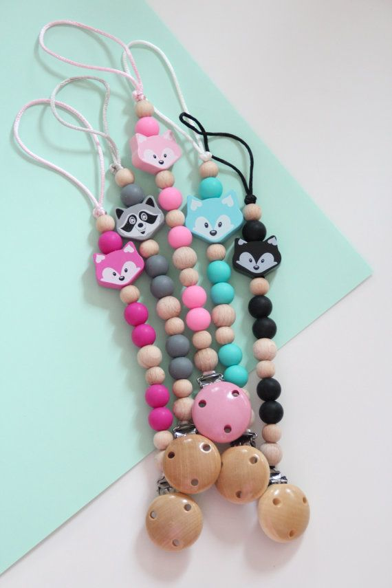 Silicone pacifier clip / Dummy holder / by ZanesCrochetTreasure