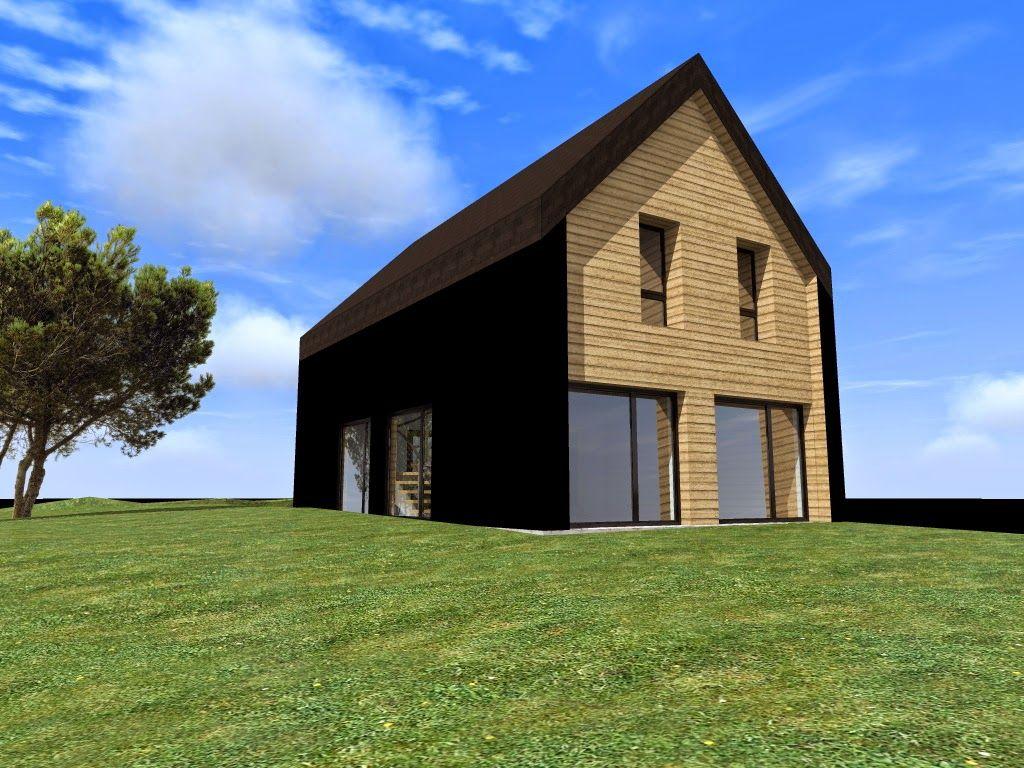 maison bruz maison passive avec cave ossature bois et remplissage paille 120m2 - Maison Paille Ossature Bois