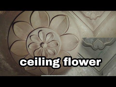 Ceiling Corner Design Ceiling Flower Youtube In 2020 Pop Design For Roof House Front Wall Design Corner Designs