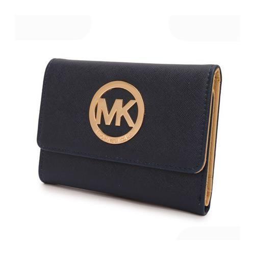 Michael Kors Fashion Logo Large Navy Wallets