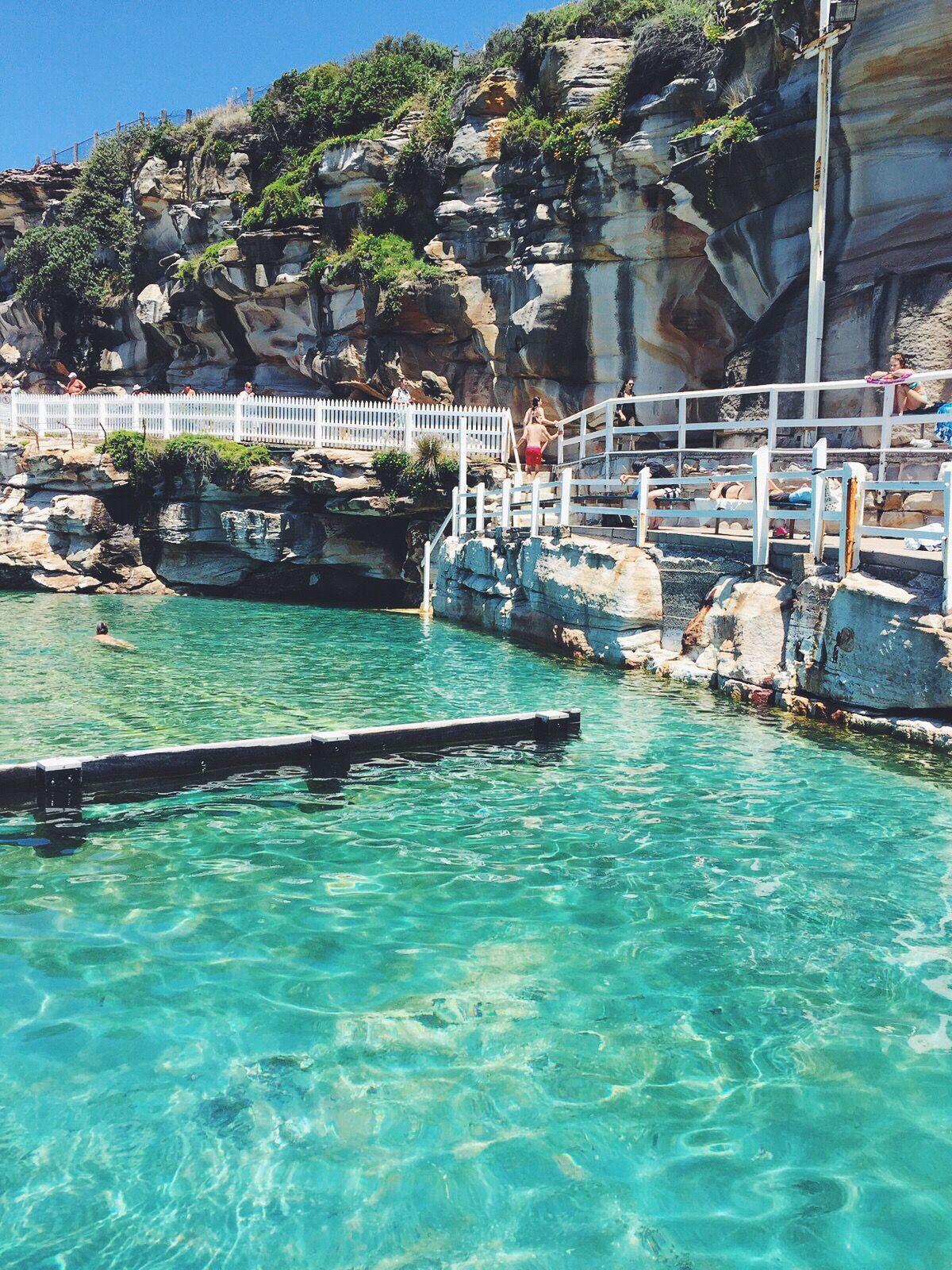 Natural salt water pool bronte beach in sydney australia - Public salt water swimming pools melbourne ...