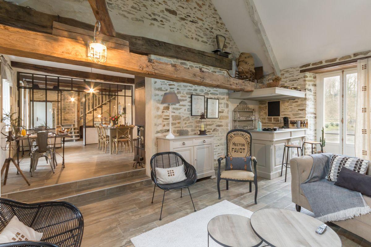 Chambre D Hotes Le Moulin De L Arz A Peillac Morbihan Chambre D Hotes 5 Epis Morbihan Deco Maison De Campagne Maison D Hotes Maison Rustique