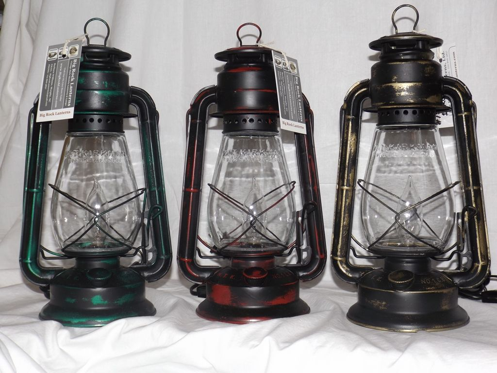 The Little Champ Electric Lantern Table Lamp With Our New Painted Rustic Custom Finish Option Awesome