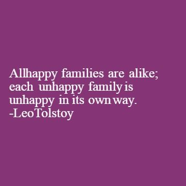 Quote4life.me All happy families are alike; each