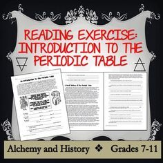 History Of The Periodic Table Reading Activity Kids Get A Kick Out Alchemy