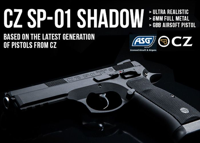 ASG CZ SP-01 Shadow Set For Release | Airsoft | Pinterest