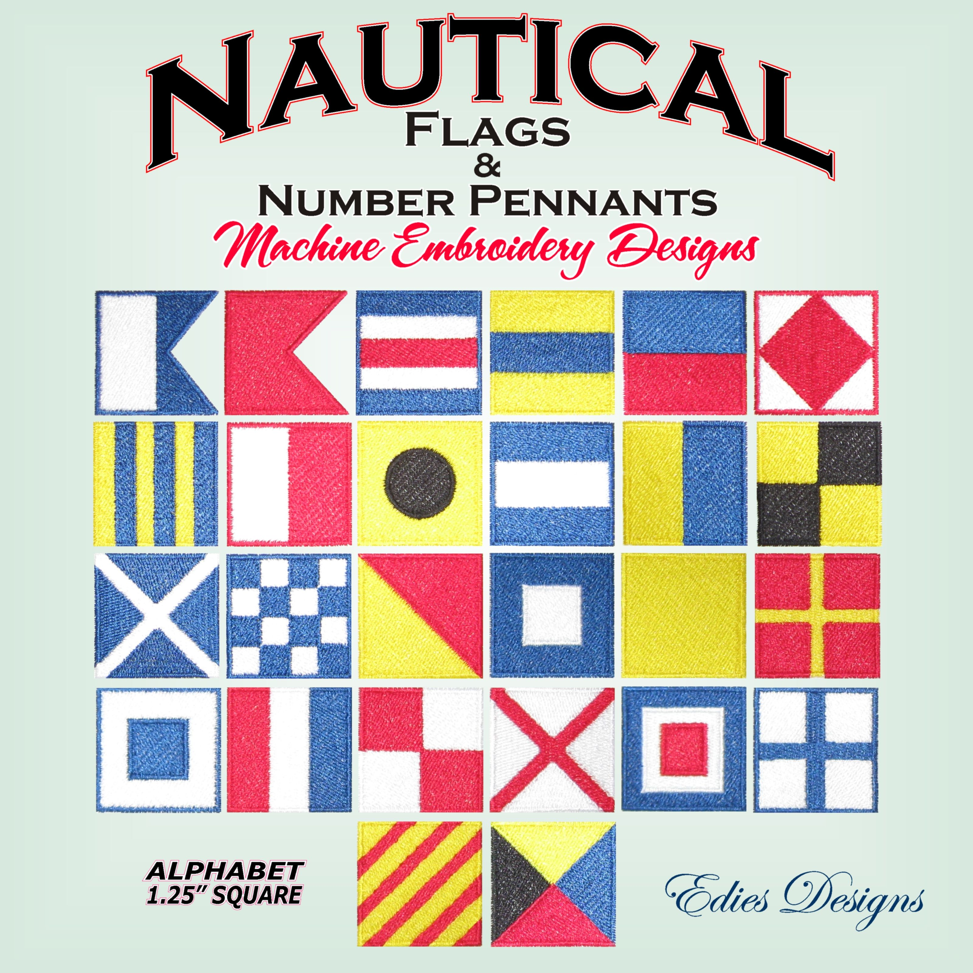 Nautical flags nautical number pennants available at httpwww find this pin and more on machine embroidery designs bankloansurffo Gallery