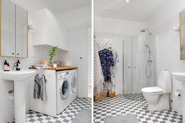 Ba o con lavadora integrada via la garbatella casa - Lavadora en el bano ...