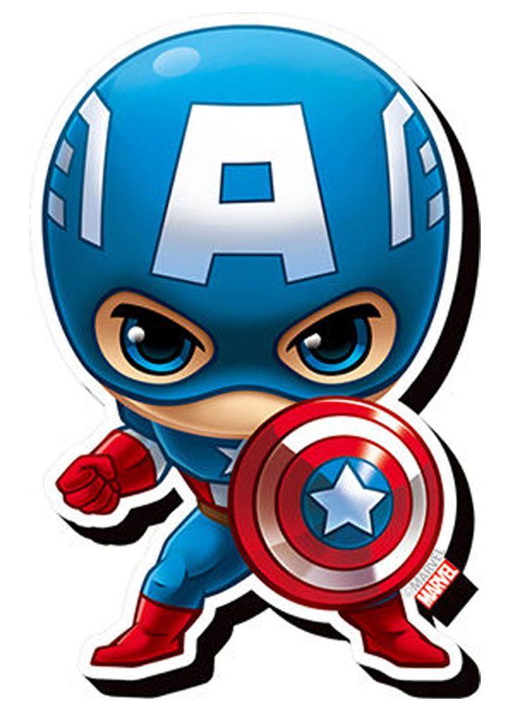Captain America Chibi Funky Chunky Magnet Marvel Comics Heroes Avengers New Capitan America Dibujo Capitan America Animado Vengadores Bebe