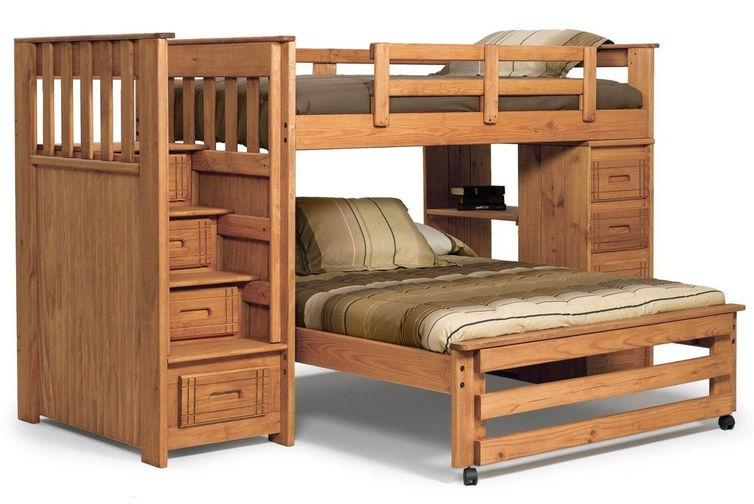 Loft bed twin over queen   Interesting L Shaped Bunk Beds Design Ideas Youull Love  Queen