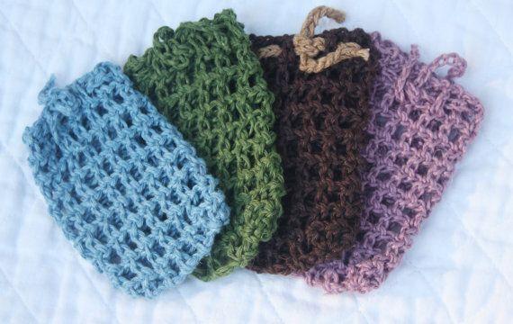 Hemp Soap Bags Set Of Two 2 Crocheted Hemp Soap Savers Eco