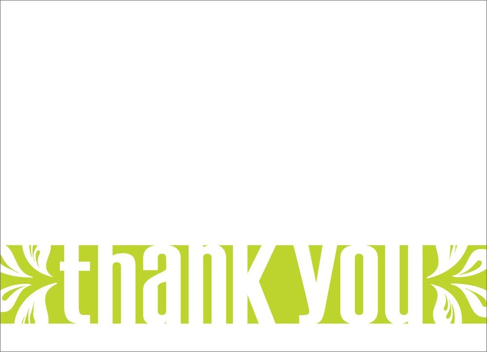 Thank You Lime - Thank You Cards from CardsDirect