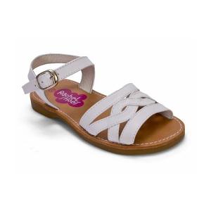 19503ebd Sandalia napa niña blanco Rachel Shoes | Sandalias de niñas de piel ...
