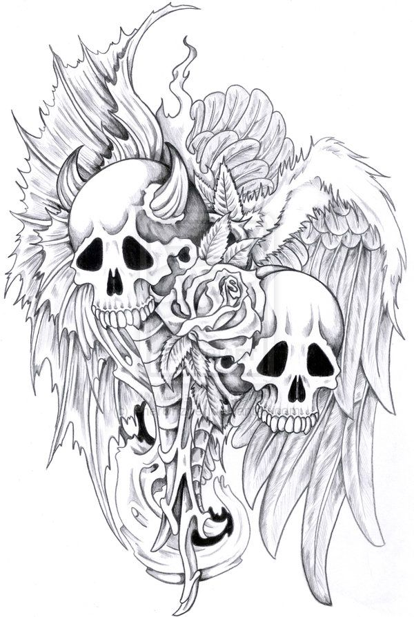 7e960da93a7bc Monster Tattoos, Designs And Ideas : Page 8 | Tattoos | Evil skull ...