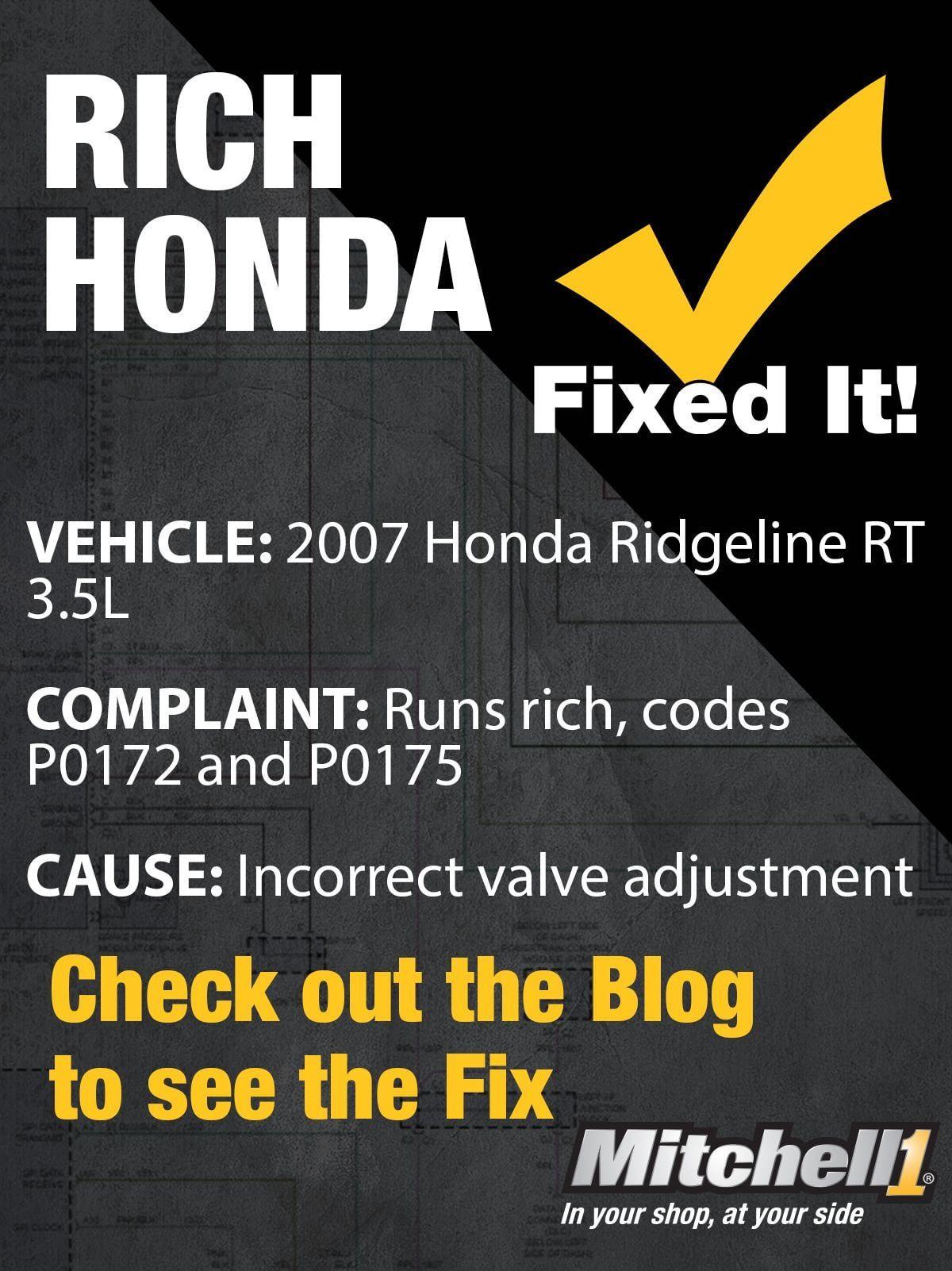 Suretrack Community Fix Rich Honda Valve Adjustment Automotive Repair Honda