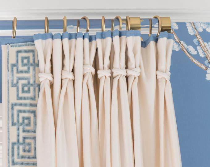 Lucite Finials For Rectangular Curtain Rod Luxholdups Custom