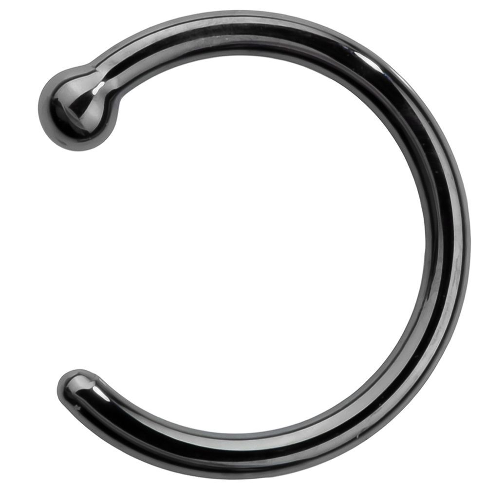 Nose piercing bump treatment  FreshTrends Luxe Solid K Black Gold Nose Hoop  Nose Jewlz