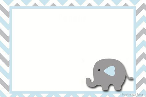 Elefante beb en celeste y gris invitaciones y etiquetas - Fotos de elefantes bebes ...