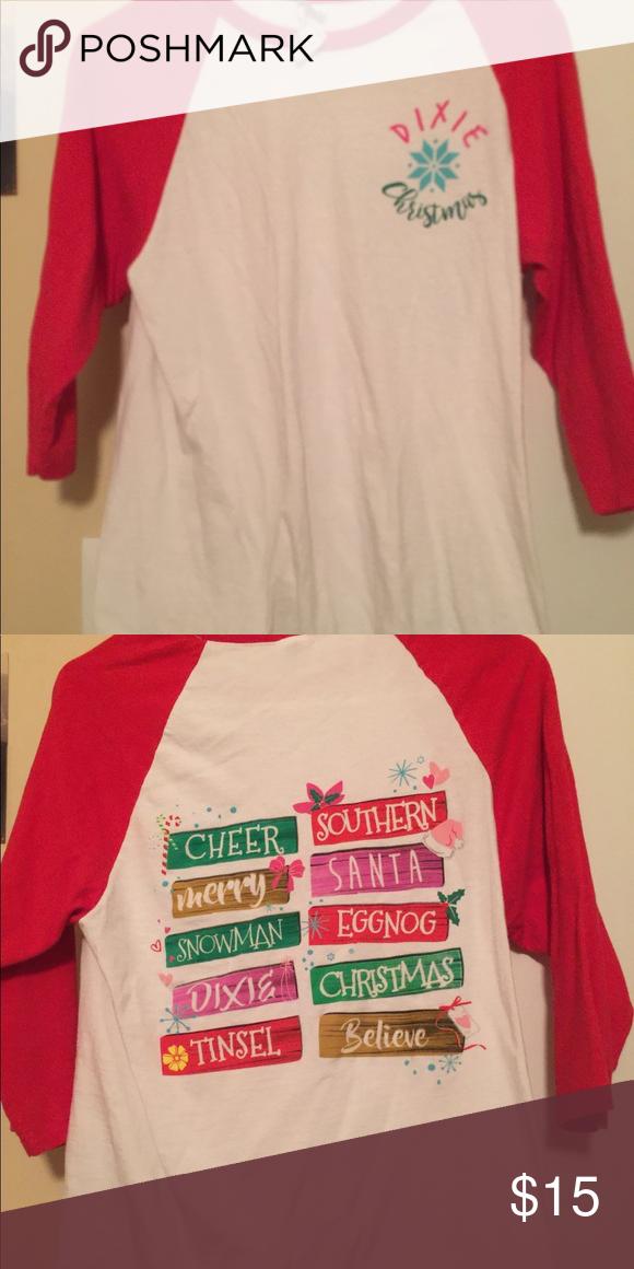 Christmas In Dixie Shirt.Christmas Shirt Dixie Christmas Tops Tees Long Sleeve My