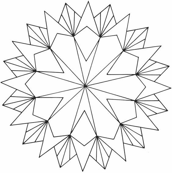geometric heart coloring pages  geometrische malvorlagen