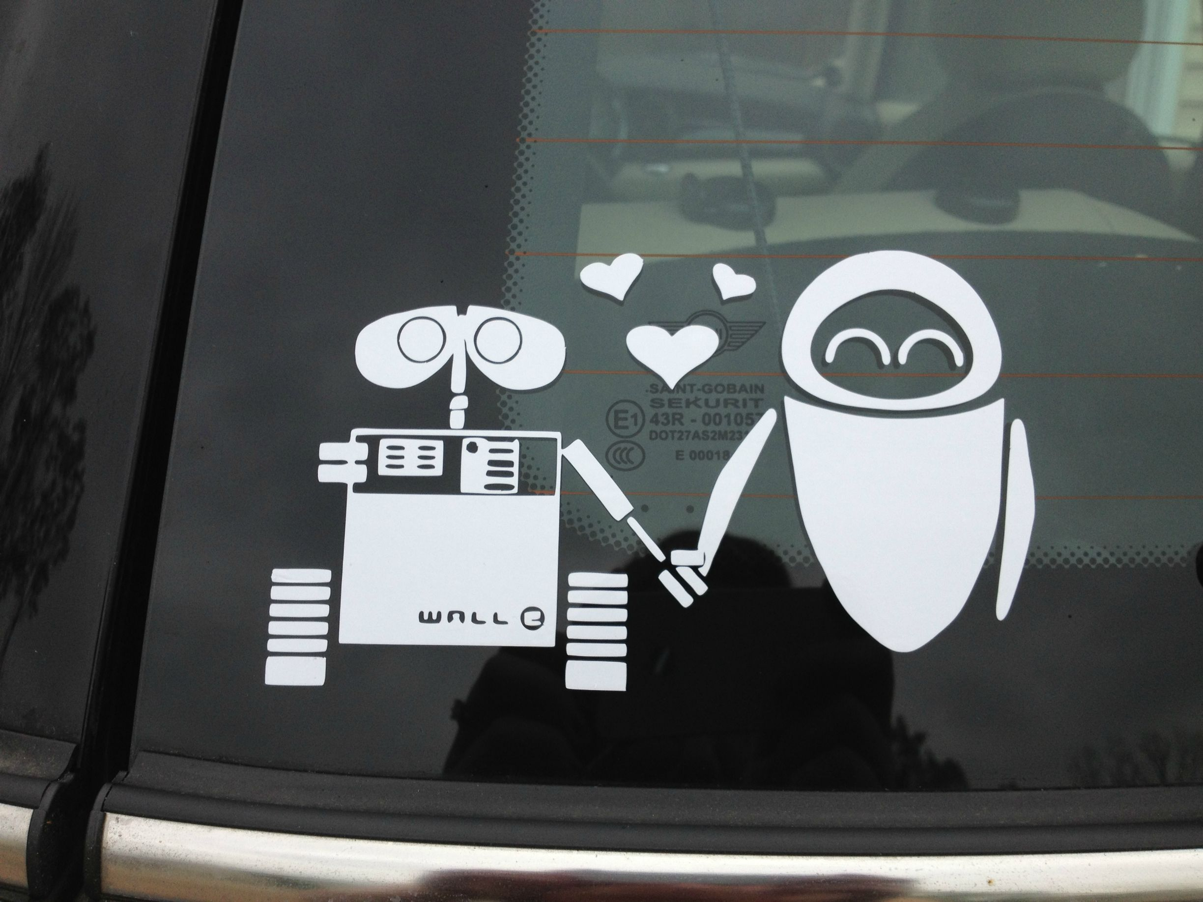 Car decals design your own - Find Best Value And Selection For Your Disney White Sticker Decal Wall E Eve Robot Love Car Window Macbook Laptop Wall Search On Ebay