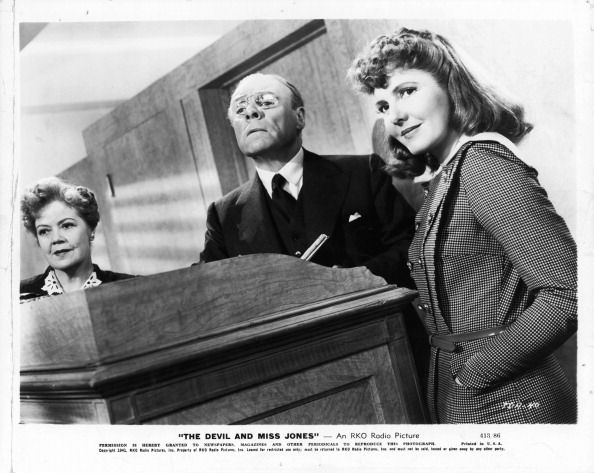 Spring Byington Unidentified Man And Jean Arthur In A Scene From The Film The Devil And Miss Jones 1941
