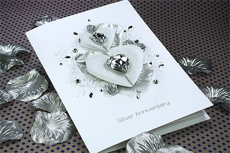 Luxury Boxed Anniversary Card Silver Wishes Lotus Pinterest