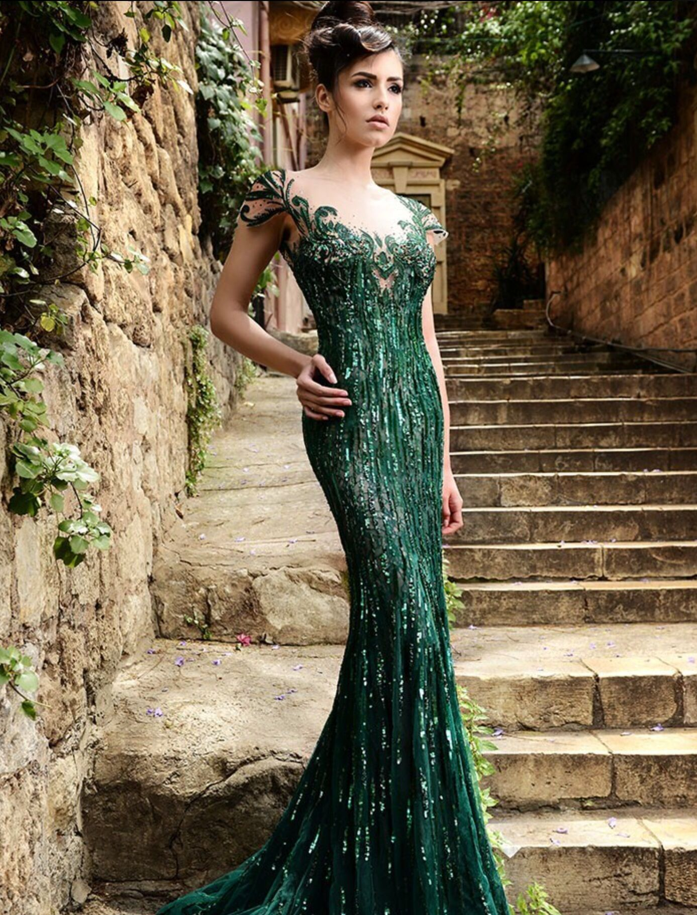 Emerald green dress for women  Gorgeous green  Clothes  Pinterest  Gowns Clothes and Prom