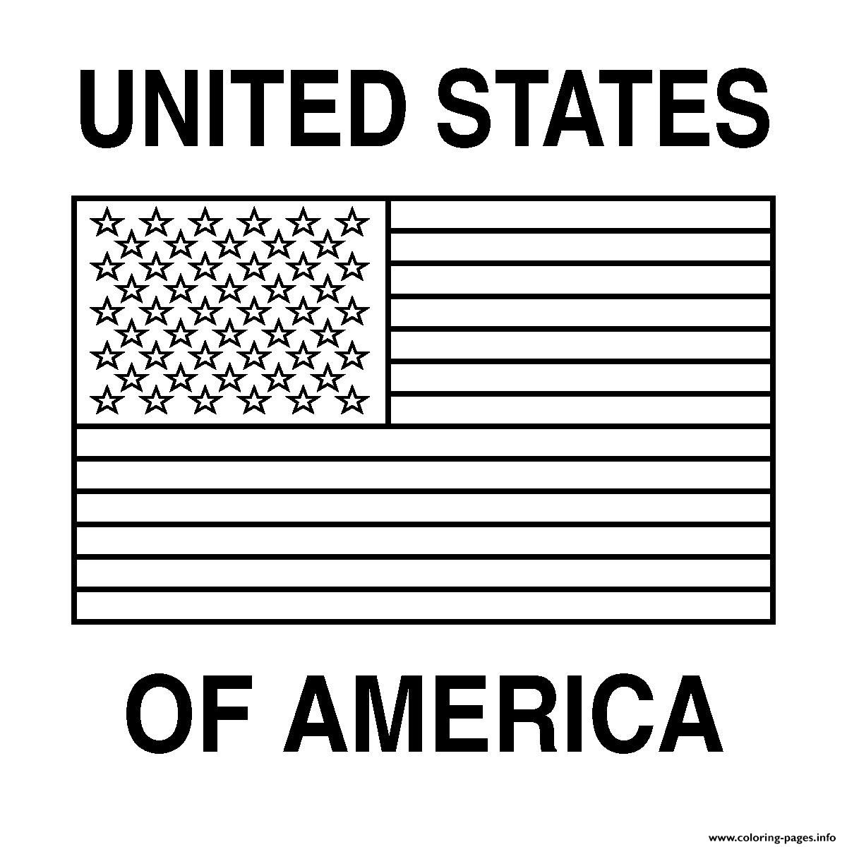 Printable American Flag Coloring Page Free Pages