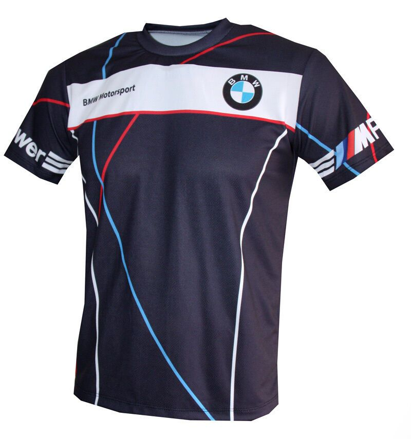 BMW M power logo T SHIRT course automobile F1 Tee Power Sport Fashion Femme Homme Enfants 5XL