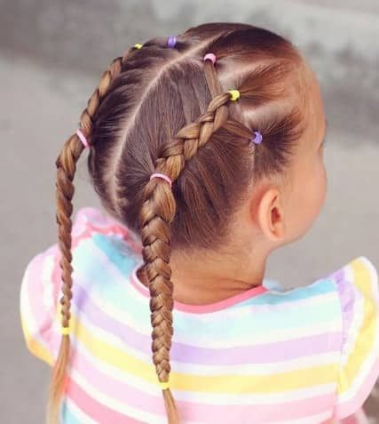 Braided Ponytails Braids For White Kids In 2019