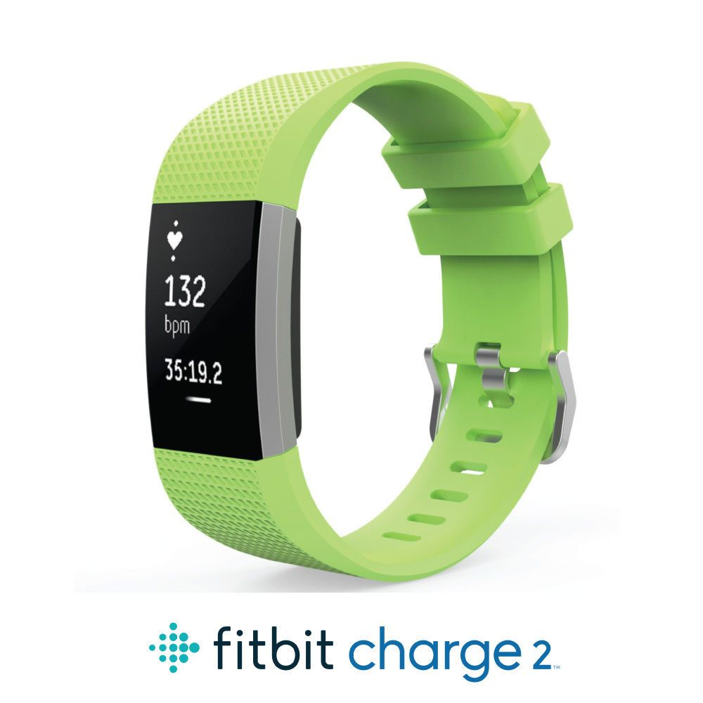 Accessory Cutout Sports Silicone Wrist Band Strap L//Small For Fitbit Charge 2