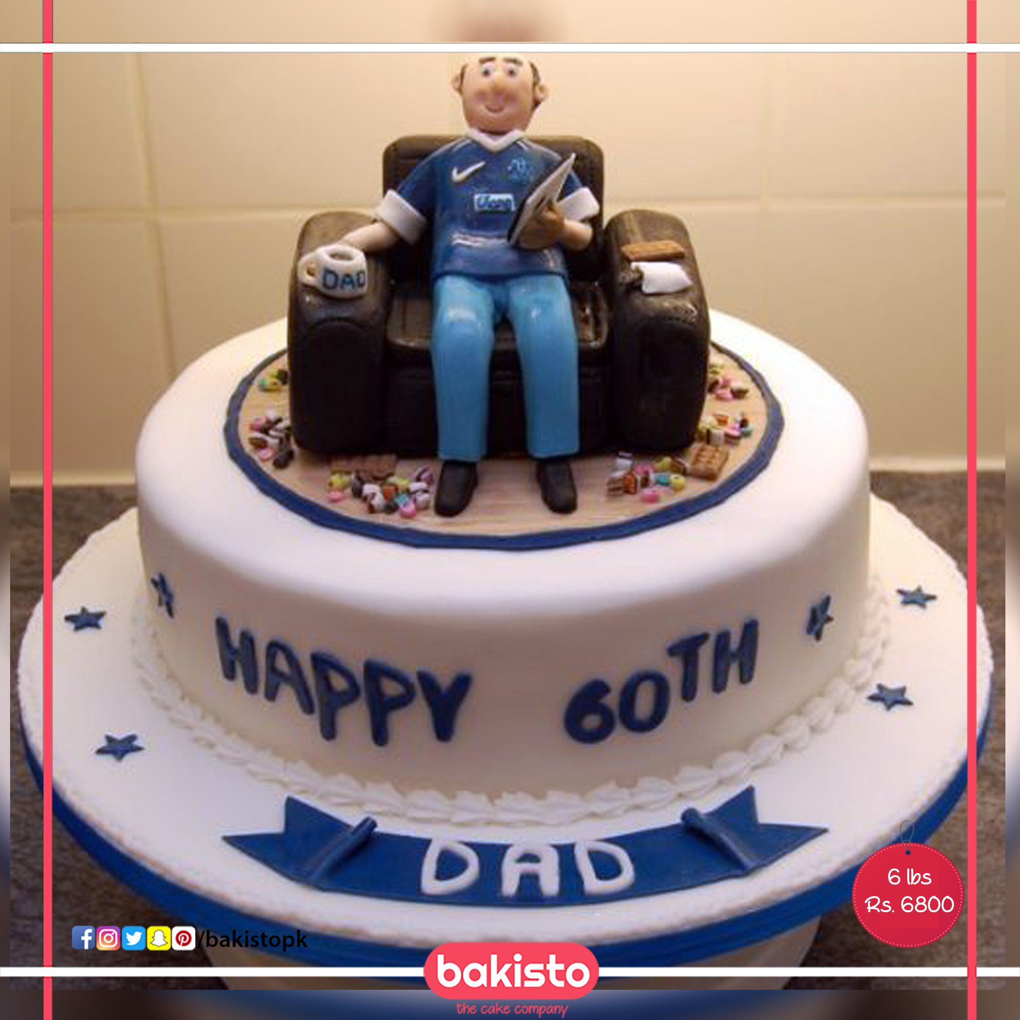 Fabulous Checkout This Awesome Dad Birthday Cake Available At Bakisto Funny Birthday Cards Online Necthendildamsfinfo