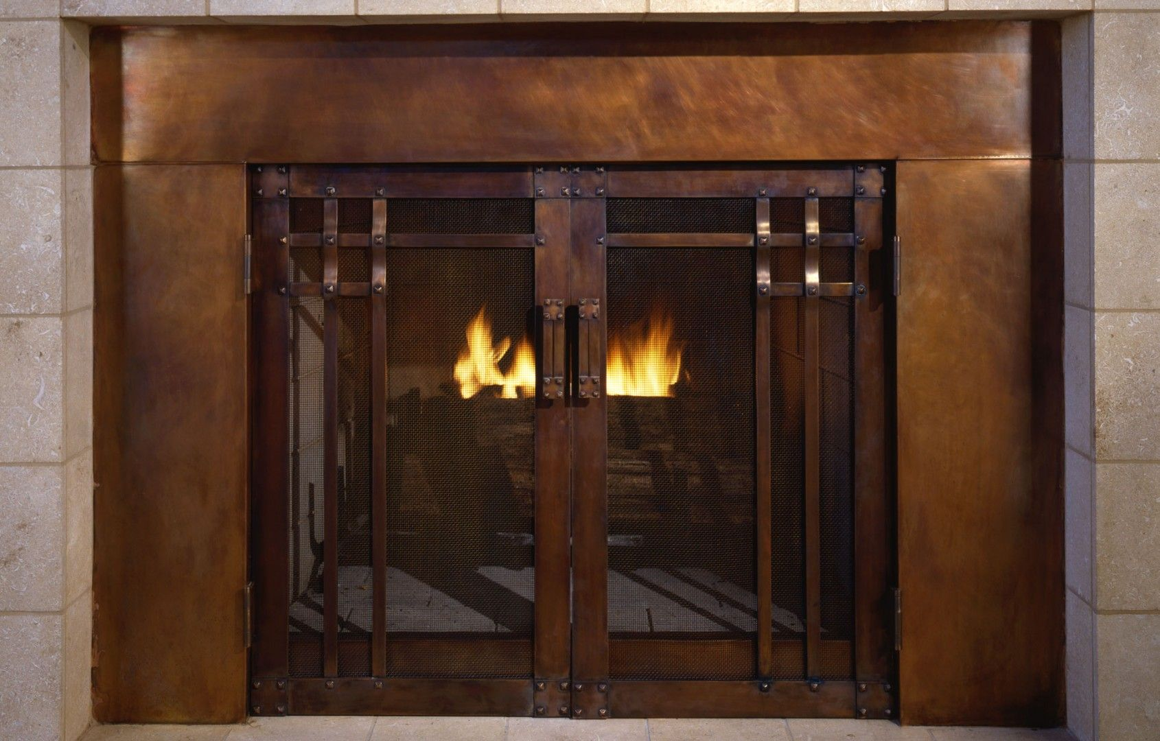 Bungalow Fireplace Mantel California Craftsman The Hand Forged Fire Guard Was