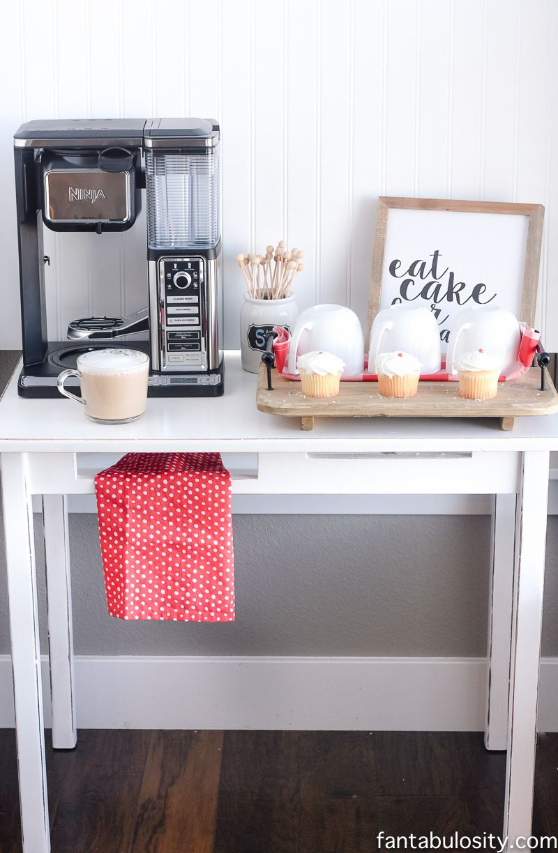 This Is Perfect For A Small E Diy Coffee Bar Ideas The Kitchen Ninjabarista Ic Ninjacoffeebar Ad