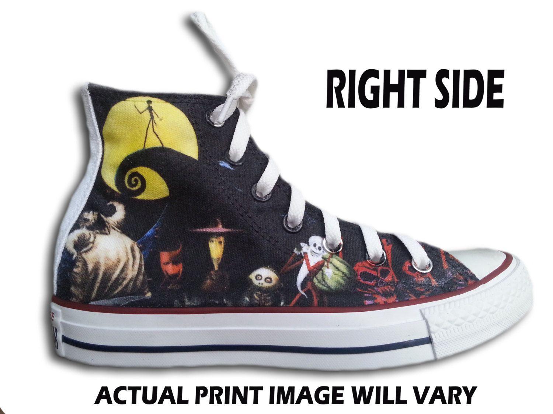 The Nightmare Before Christmas Custom Converse All Stars | Nightmare ...