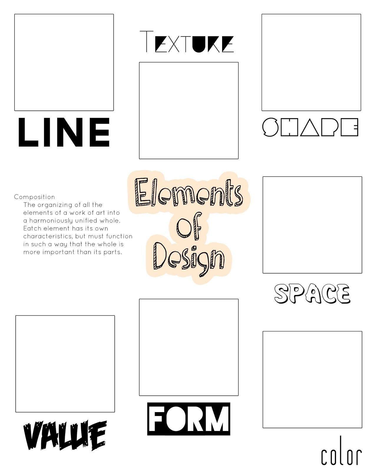 worksheet Elements And Principles Of Art Worksheet we keeps it graphic graphics 1 drawings pinterest art elements organizer for the discerning little critic