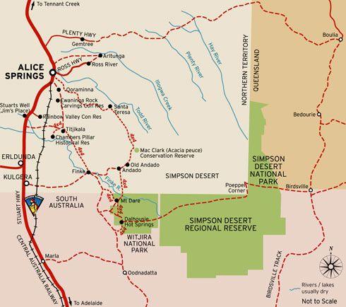 4wd Map Of Australia.Simpson Desert Aboriginal Culture Outback Australia 4wd