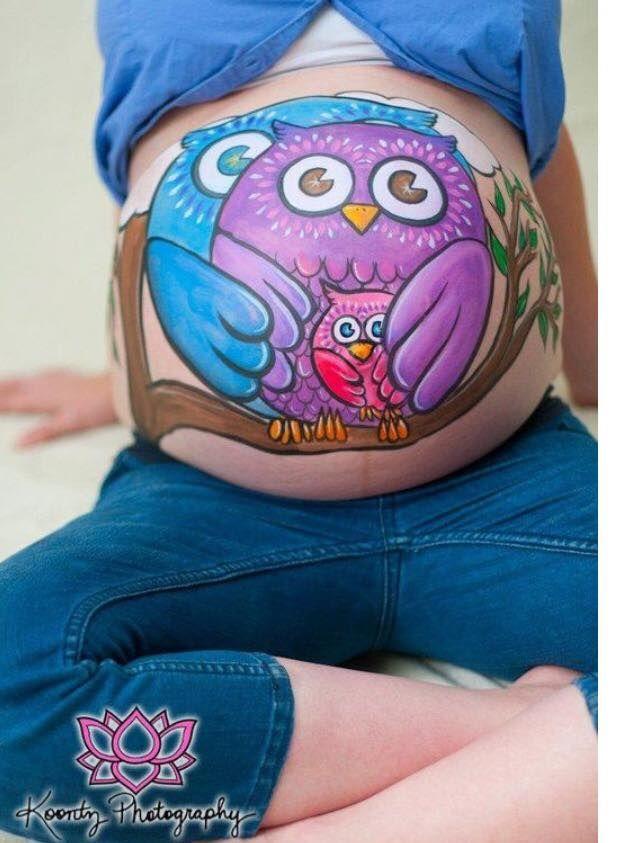 Pin Von Mily Info Auf Owls Pinterest Belly Painting Pregnant