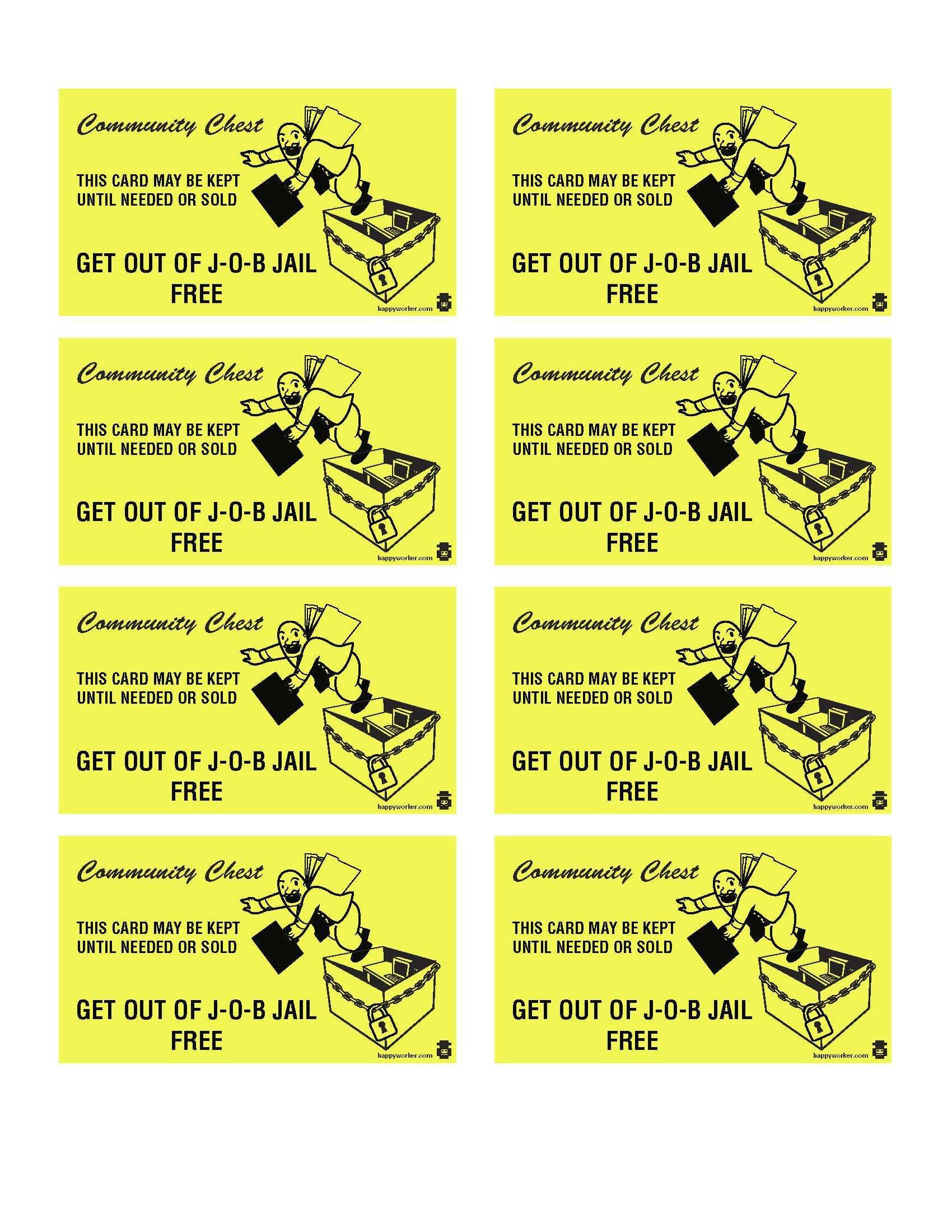 Monopoly Get Out Of Jail Free Card Template Parole For The Throughout Get Out Of Jail Free Card Templ Card Templates Free Valentine Card Template Card Template
