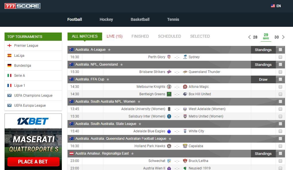 free livescore today live football score today football match