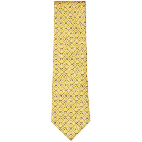 Tailor Byrd Silk Golf Club Tie ($19) ❤ liked on Polyvore featuring men's fashion, men's accessories, men's neckwear, ties and no color