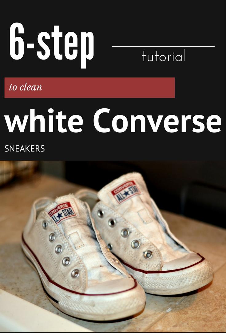 6-Step Tutorial To Clean White Converse