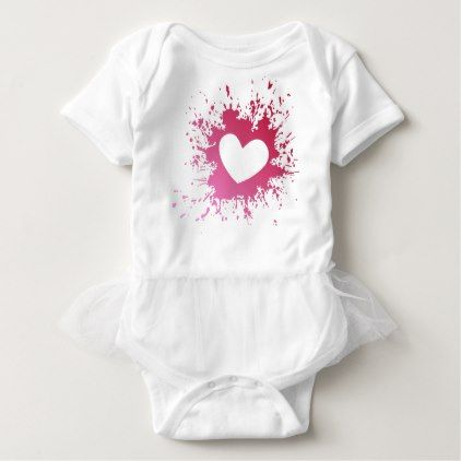 Pink heart love spatter baby bodysuit elegant gifts gift ideas pink heart love spatter baby bodysuit elegant gifts gift ideas custom presents negle Image collections