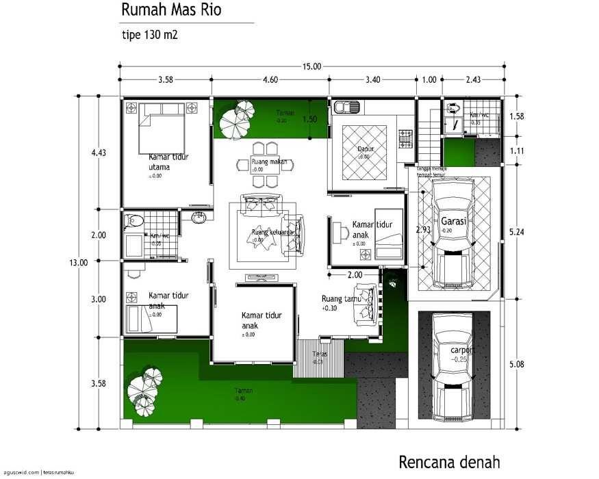 Model Desain Denah Rumah Mewah 2014 Small House Interior Design Home Office Layouts Small Bedroom Layout