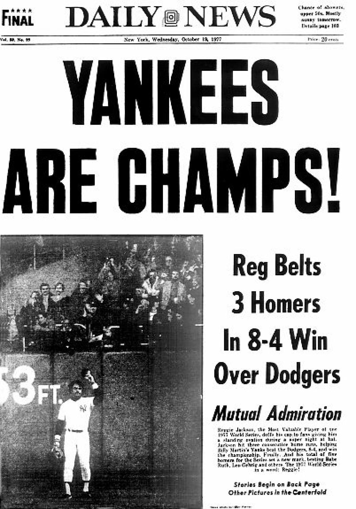 27 Yankees World Series titles, 27 Daily News covers